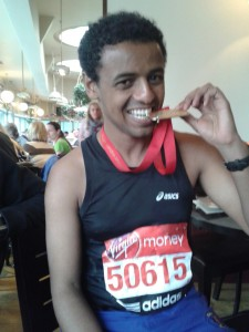 Emmanuel Soquar Virgin London Marathon 2013 Runner for ERA UK